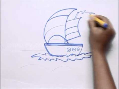 how to draw a boat in the sea how to draw boat in the sea youtube