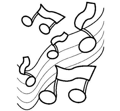 disegno note nella scala musicale colorato da utente non