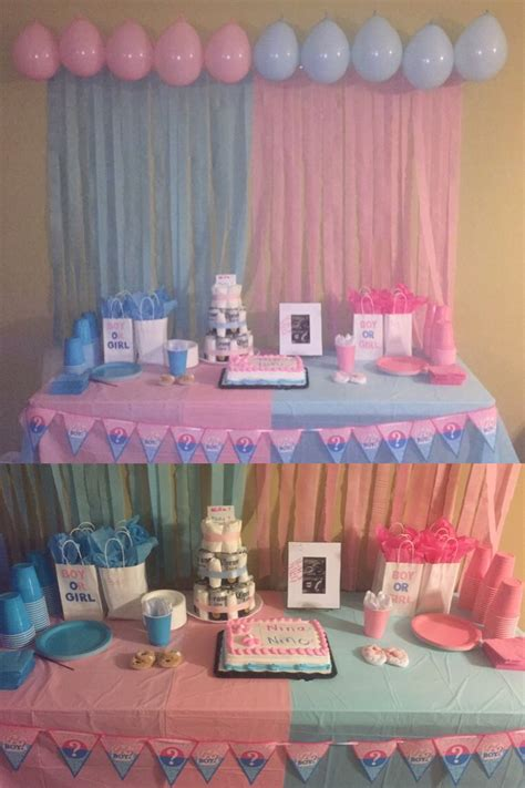 Baby Shower Reveal Ideas by Gender Reveal Decoration I Did For My Reveal Shower