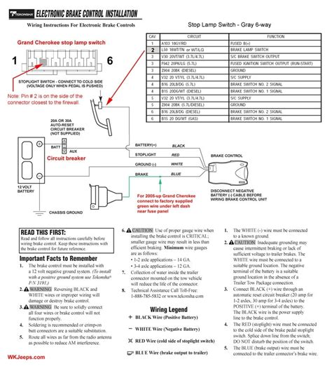 tekonsha p3 electric brake controller wiring diagram