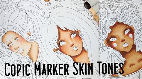 how to color skin how to color different skin tones with 10 copic markers