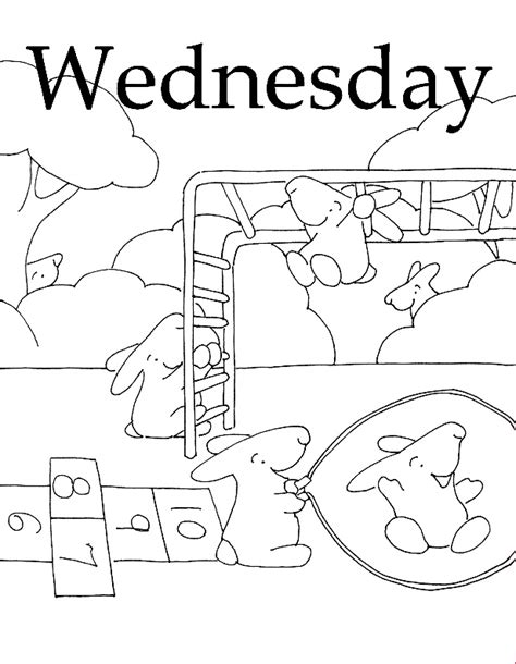 days of the week coloring pages az coloring pages