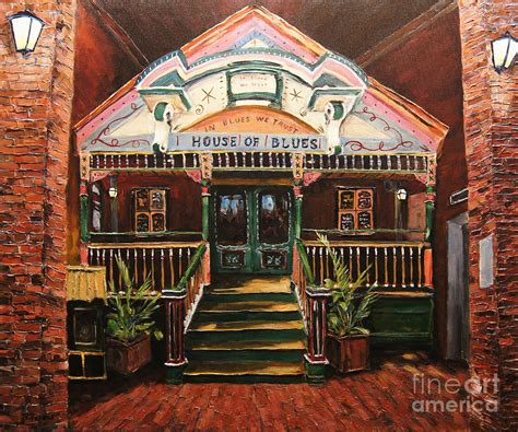 house of blues new orleans house of blues new orleans by prankearts painting by richard t pranke