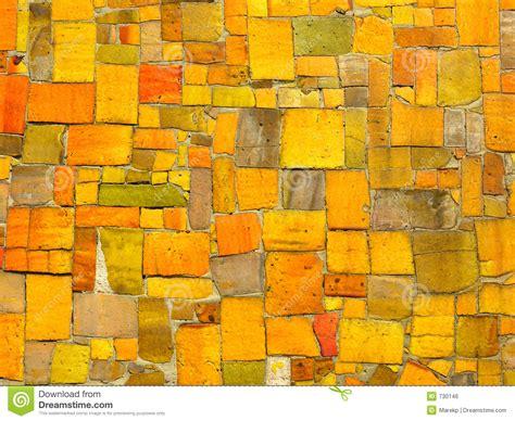 Yellow Tiles Mosaic   Random Pattern Royalty Free Stock Image   Image: 730146