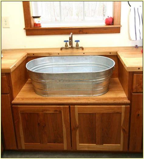 Wash Tub Sink by Galvanized Sink Galvanized Sink Best