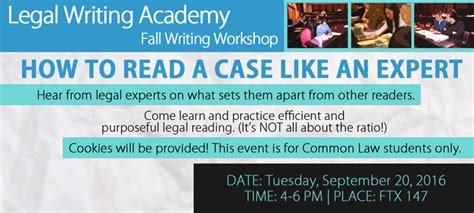 how to read law sections legal writing academy faculty of law common law