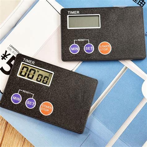 card digital portable credit card size digital lcd timer kitchen