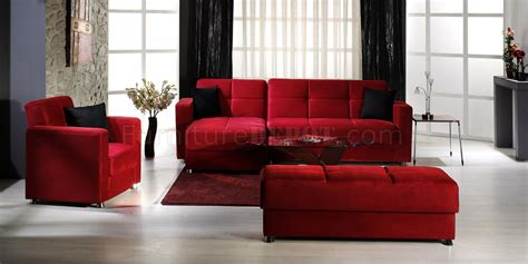 red microfiber sectional sofa elegant convertible sectional sofa w storages in red
