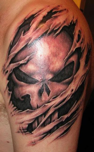 punisher tattoos skull tattoos october s skull of the month