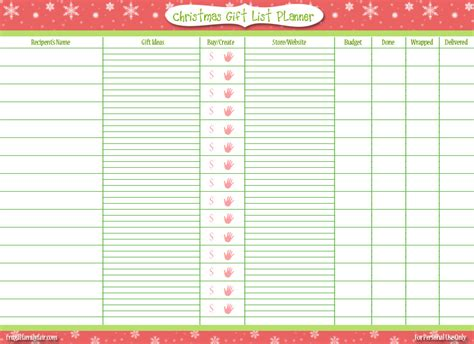 printable christmas list maker free printable christmas gift list frugal family fair
