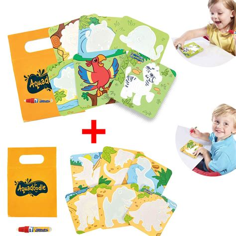aquadoodle children s drawing toys tomy aquadoodle mini mats zoo and dinosaurs drawing