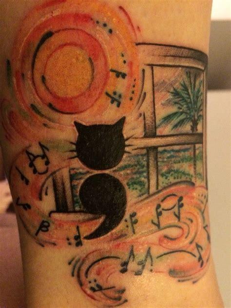 tattoo semicolon cat semicolon cat tattoo semicolon cat tatueringar