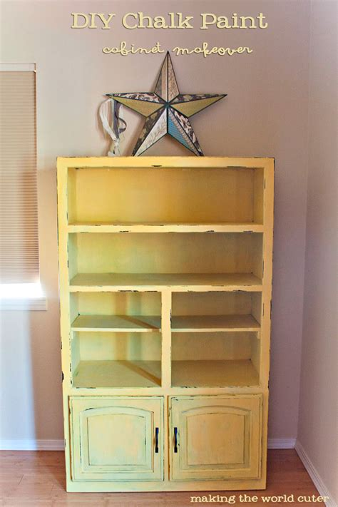 diy chalk paint makeovers diy chalk paint cabinet makeover