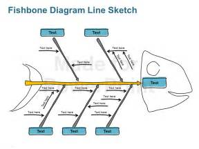 fishbone diagram line sketch editable powerpoint ppt