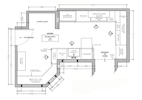 create kitchen floor plan kitchen design floor plans gooosen com
