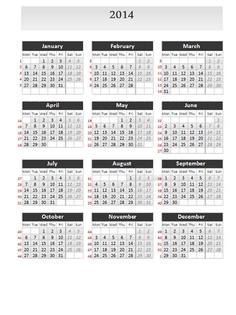 simple calendar template 2014 simple calendar 2014 for powerpoint