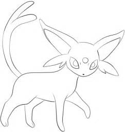 pokemon coloring pages espeon espeon coloring page free printable coloring pages