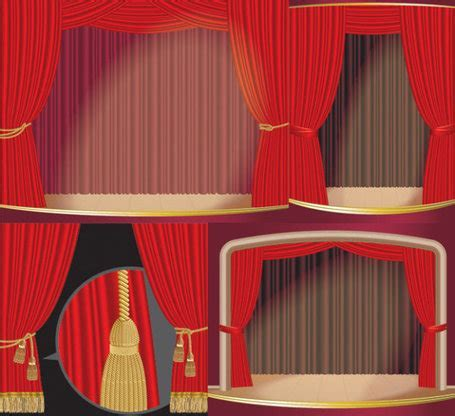 Curtain Call Clip Art, Vector Curtain Call