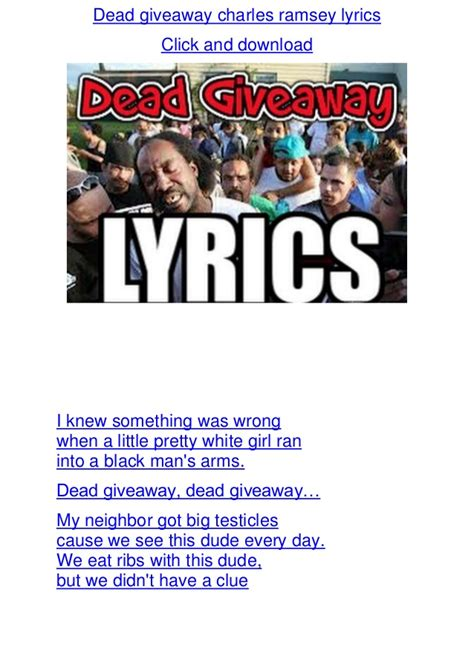 dead giveaway charles ramsey lyrics - Dead Giveaway Lyrics
