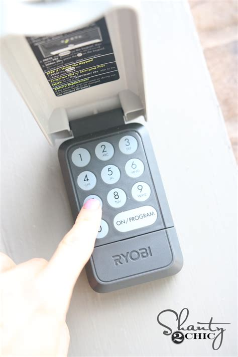 Ryobi Garage Door Opener Giveaway Shanty 2 Chic Outside Garage Door Opener