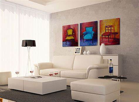 artistic living room design ideas with wall paintings