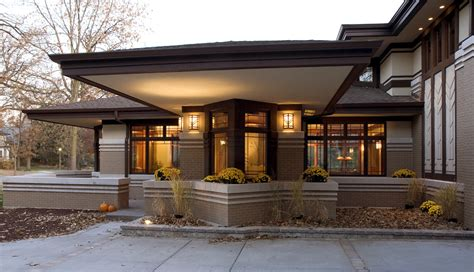 modern frank lloyd wright style homes prairie style windows exterior modern with cantilever