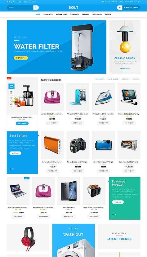 mobile themes opencart bolt mobile store responsive opencart theme by