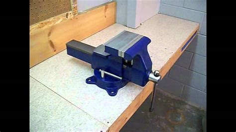 removable bench vice mounting a bench vise youtube