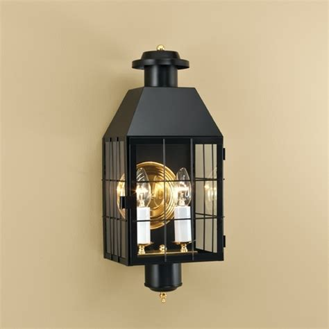American Outdoor Lighting Norwell Lighting American Heritage Black Outdoor Wall Light 1093 Bl Cl Destination Lighting