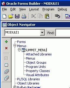 layout editor in oracle forms creating oracle forms menus