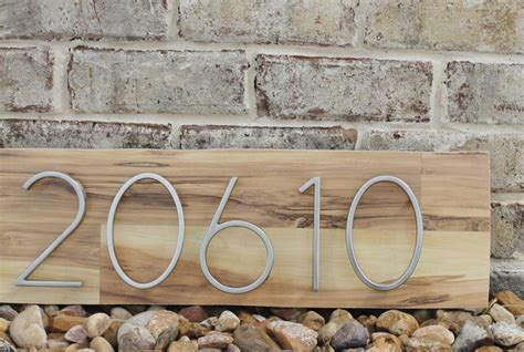 Home Decor Cool Address Plaques Home Decor Diy Mid Century Modern Address Plaque