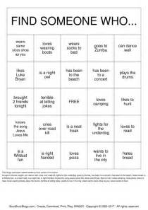getting to know you bingo images
