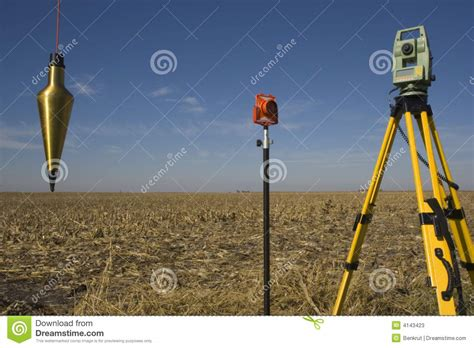 Plumb Station by Total Station Prism And Plumb Bob Stock Photos Image