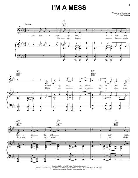 download mp3 ed sheeran i m a mess i m a mess sheet music by ed sheeran piano vocal