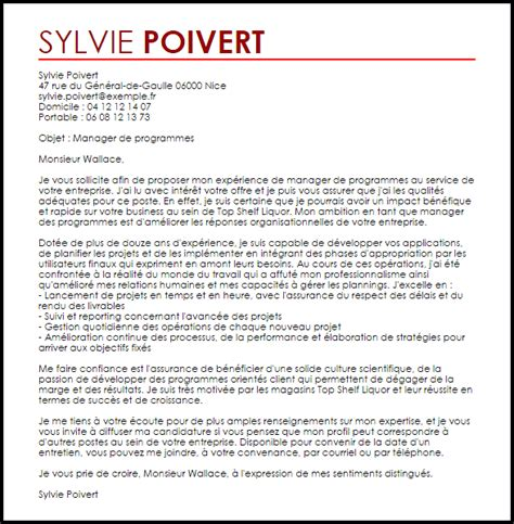 Exemple Lettre De Motivation école De Management Exemple Lettre De Motivation Management Livecareer