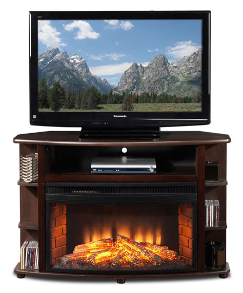 Tv Corner Fireplace by Blaze Corner Fireplace Tv Stand Java S