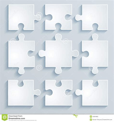 How To Make A Paper Puzzle - parts of paper puzzles stock photography image 33304862