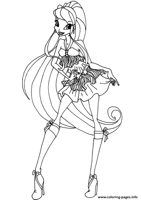 stella season 5 winx club coloring pages printable