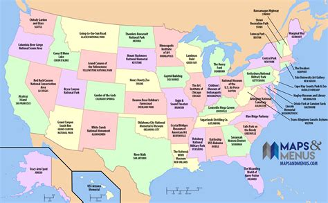 map of 50 united states this map shows the top thing to do in all 50 states maps