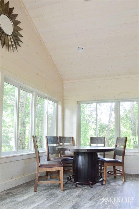 cottage sunroom reveal shiplap walls  decor ship lap