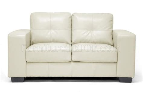 ivory leather sofa set whitney sofa set in ivory bonded leather by wholesale