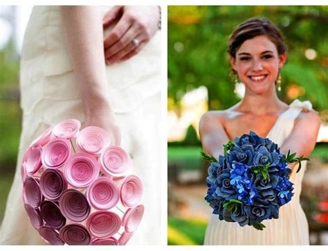 How To Make A Paper Wedding Bouquet - paper wedding bouquets