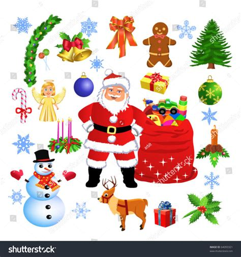images of christmas objects christmas objects stock vector illustration 64093321