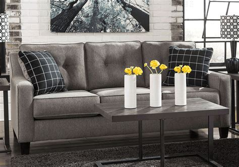 brindon charcoal sleeper sofa brindon charcoal sofa evansville overstock warehouse