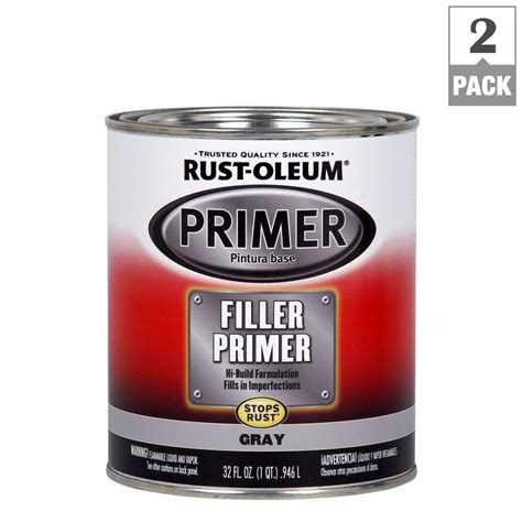 home depot paint with primer reviews rust oleum automotive 1 qt gray filler primer 2 pack