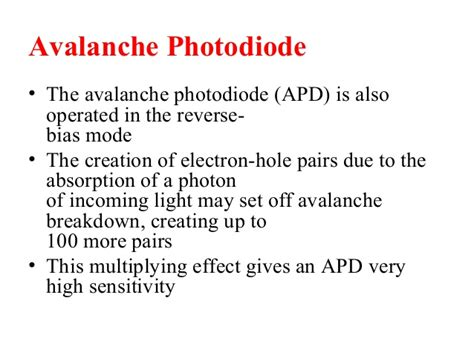 advantages of photodiode advantages of avalanche photodiode 28 images illuminating photodiodes the signal archives ti