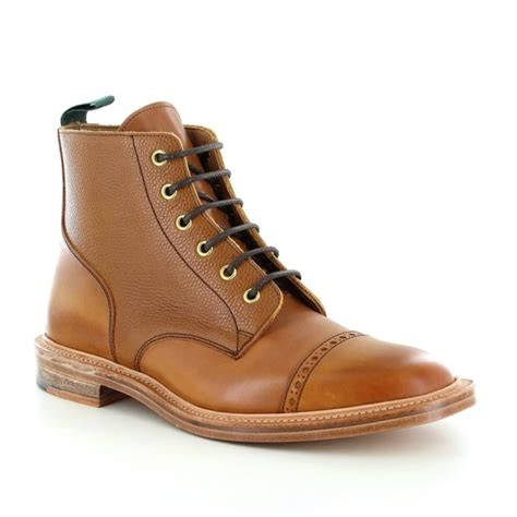 Sepatu Azcost Derby Formal Leather nps 477 000 mens made in britain leather derby boots in mahogany brown