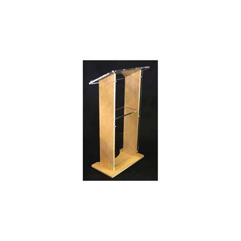 stage lectern wood acrylic speech platform