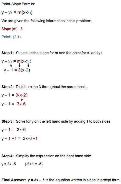 slope form point slope form