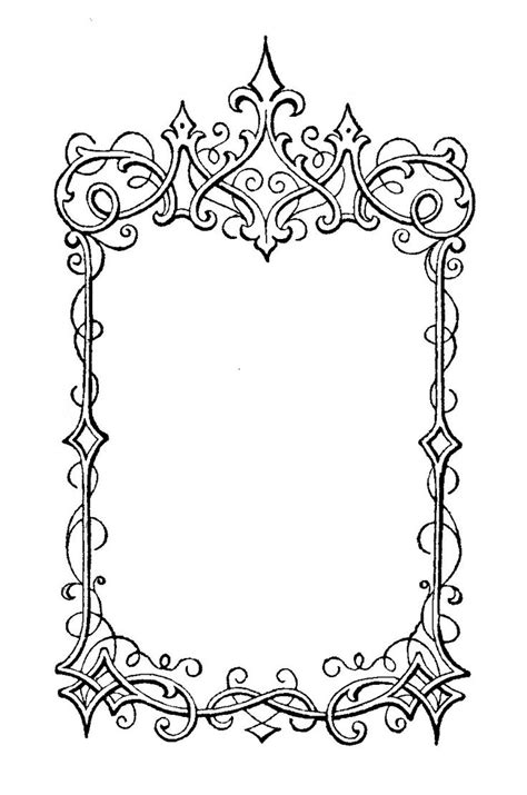 printable paper photo frames the sum of all crafts elegant frames vectors png svg